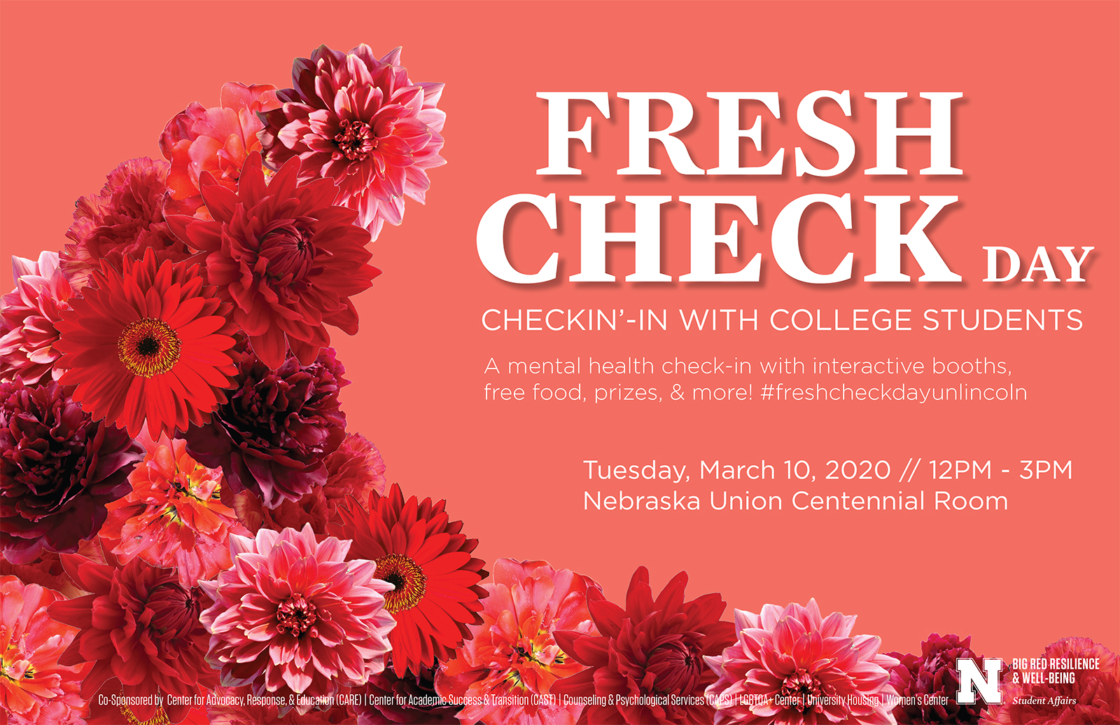 Poster for Fresh Check Day at UNL