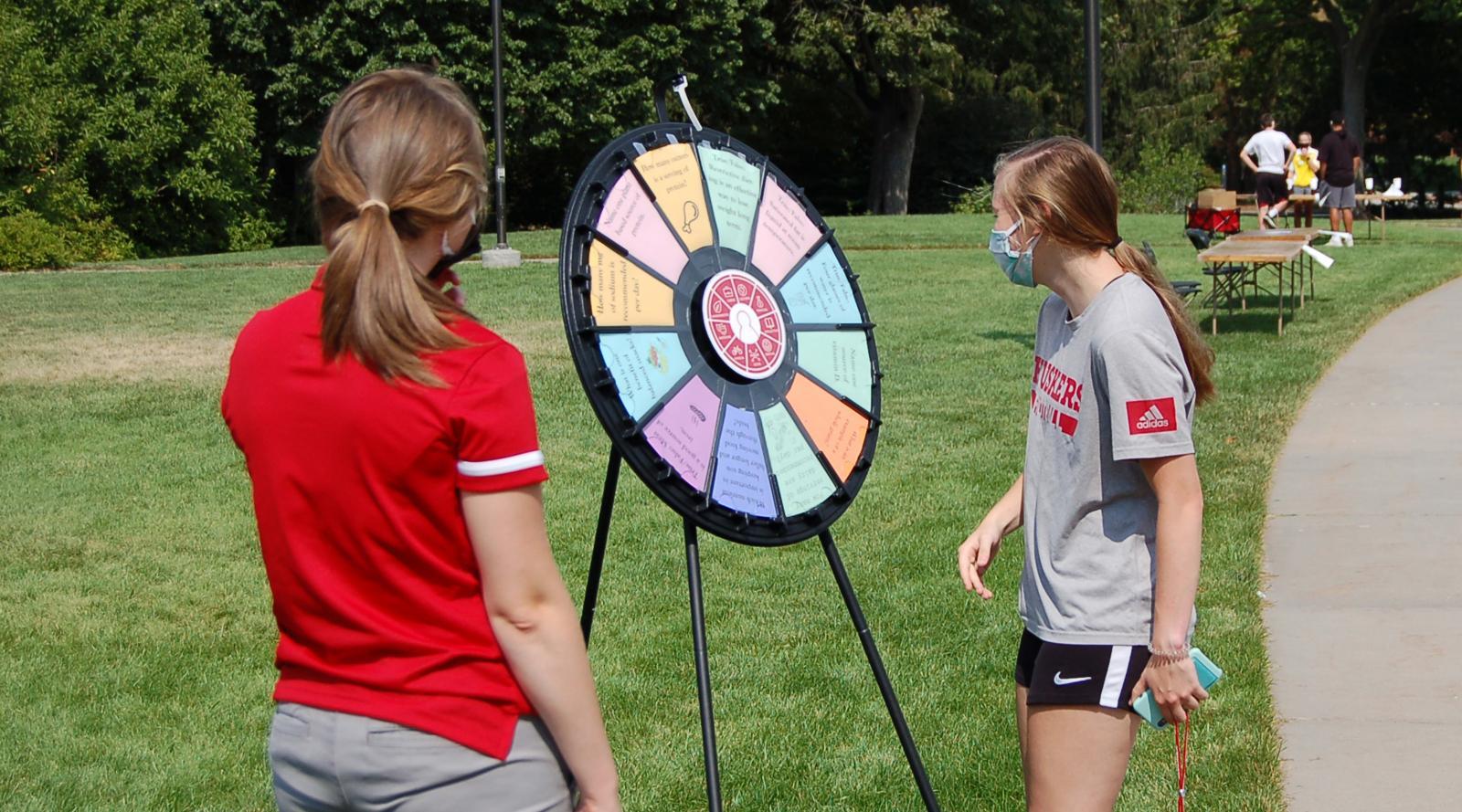 Spinning wheel at Wellness Fest